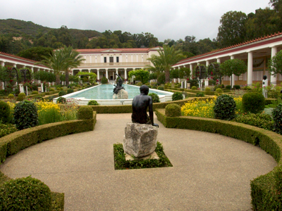 Getty villa pacific palisades ca a traveling gardener for Roman garden designs