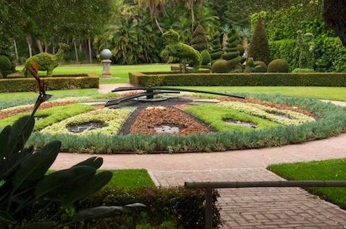 Clock in the Topiary Garden
