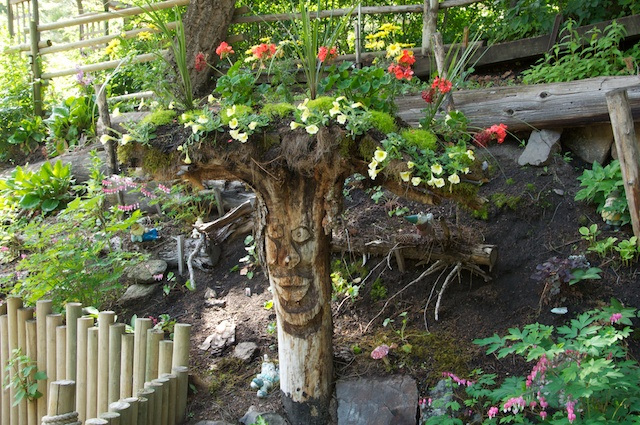 Raised garden stump @ Tizer Gardens,