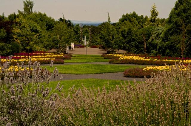 The Axis Garden, a grand walk.