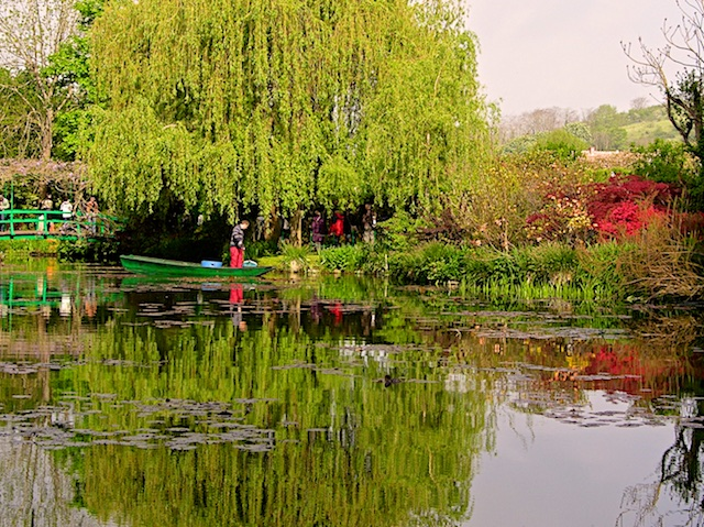 Even today at Giverny the Gardener tends the water