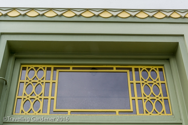 Art Deco Landscape in Gardens of Napier, NZ North Island